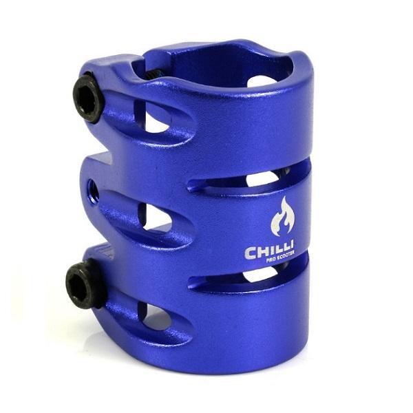 Chilli3boltTripleClampBlue