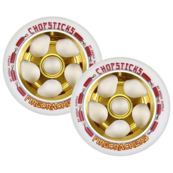 eagle chopstick firecrackers 110mm wheels white gold