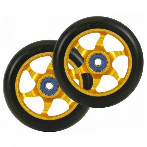 flavor awakening 110mm wheels black gold