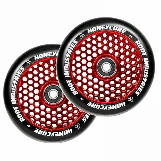 root industries air honeycore 110mm wheels black red